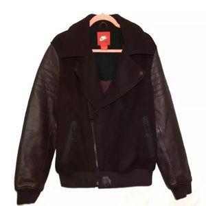 Nike Lebron James Varsity Leather Moto Jacket Mens